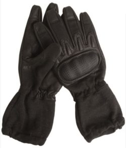 BLACK ACTION GLOVES W.CUFF FLAME-RETARD MILTEC