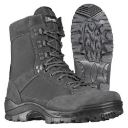 URBAN GREY TACTICAL BOOTS WITH YKK ZIPPER